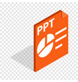 ppt file extension isometric icon vector image vector image