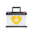 realistic automobile battery promotion discount vector image