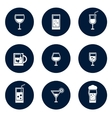 round glasses icons vector image vector image