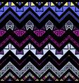 seamless ethnic zigzag chevron pattern vector image vector image