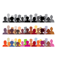 set of audience s vector image vector image
