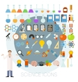 set science icons vector image