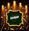 shining retro sign jackpot banner vector image vector image