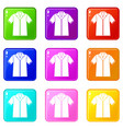 shirt polo set 9 vector image vector image