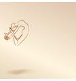 Silhouettes of woman in pastel tones 5nov vector image vector image