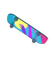 skating board colorful item vector image