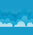 sky cloudy background clouds banner template vector image vector image