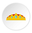 small crown icon circle vector image vector image