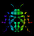 spectral colored dotted ladybird bug icon vector image vector image