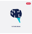 two color future brain icon from artificial vector image