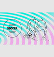 two soccer players fighting for ball forward vector image