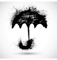 Umbrella grunge sketch vector image