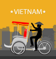 Vietnam Tricycle vector image vector image