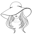 Young girl in a hat vector image vector image