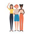 young women avatar character vector image