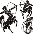 Zodiac Signs - sagittarius set vector image vector image