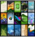 variety of 15 vertical business cards vector image