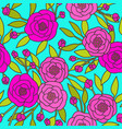 bright floral pattern vector image