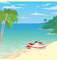 water bike on sandy beach with palms vector image