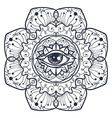 All Seeing Eye in Mandala vector image