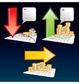 arrow graph icons vector image