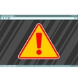 Attention sign in frame on screen vector image vector image