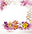 Background with lilies vector image vector image