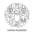 banners for eating disorder vector image vector image