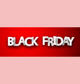 black friday sale red promotion banner vector image vector image