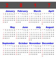 Business template of 2017 calendar vector image vector image