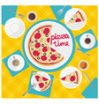 card pizza time vector image vector image