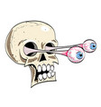 cartoon image of ancient spooky skull vector image vector image