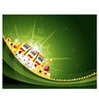 casino slot machine background vector image vector image