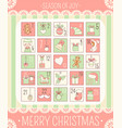 christmas advent calendar vector image