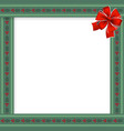 christmas or new year frame with berries and vector image