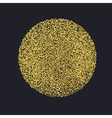 Circle with gold glitter particles on black vector image