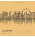 Cityscape graphic template Modern city vector image vector image