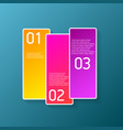 color modern progress paper banners set vector image vector image