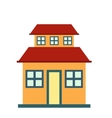 Cottage with a mansard icon vector image vector image