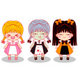 cute little horror girls vector image