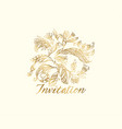 decorative angels wings feathers for card vector image