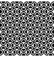 decorative geometric pattern black and white vector image vector image