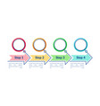 empty circles infographic template vector image