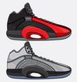 fashion sports basketball shoes vector image vector image