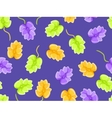 floral seamless pattern on violet background vector image vector image