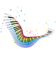 flying rainbow piano vector image