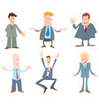 funny businessmen cartoon characters set vector image vector image