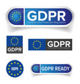 gdpr - eu general data protection regulation vector image