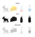 goat a piece of cheese and other products milk vector image