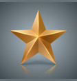gold star 3d realistic icon vector image